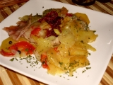 Bravčová panenka v alobale so zemiakom /Vepřová panenka v alobalu s bramborem