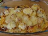 Zapecene zemiaky s cuketou a paprikou /Zapečené brambory s cuketou a paprikami