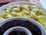 Zapečené krupicové noky s ovocným pyré
