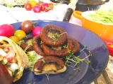 Grilované veľké šampiňóny, alebo portobello