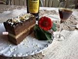 Kakaovo-orechové rezy s čokoládou a Fernetom
