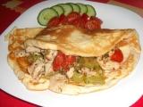 Kuracia zmes so zeleninou v omelete