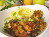Kuracie prsia v teplej zelenine z pekáča