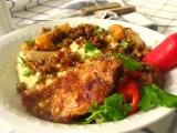 Kuracie stehná v zeleninovo, šošovicovej omáčke