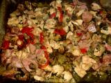 Kuřecí prsa se zeleninou a houbami