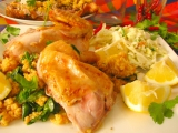 Libanonské pečené kura s kuskusom