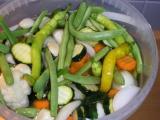 Nakladaná zelenina v 5 l fľaši bez sterilizácie
