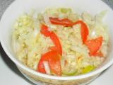 Šalát z čínskej kapusty a paradajkami  / Salát z čínského zelí s rajčaty