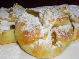 Lístkové šatôčky s jablkami a malinami / Šatečky s jablky a malinami