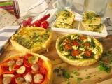 Slané koláče z pizza cesta – špenátový a vaječný