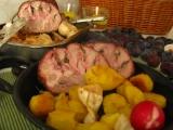 Talianske bravčové plnené karé v dubákovom kréme  / Arista di maiale ai porcini