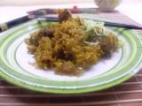 Wok - Kuracie mäso piatich vôní s cibuľovou ryžou