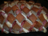 Zapečený chleba jako ježek