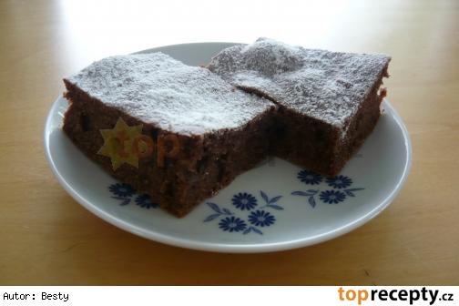 Banánovo - čokoládový koláč