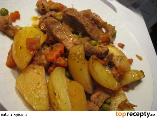 Bravčové na zelenine so zemiakmi