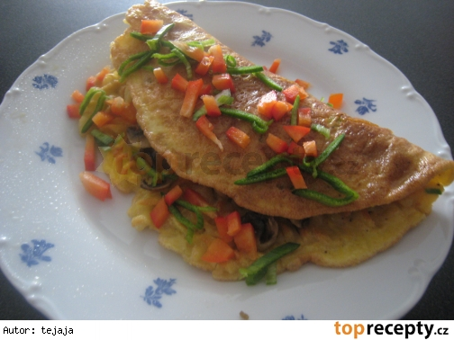 Cestovinová omeleta