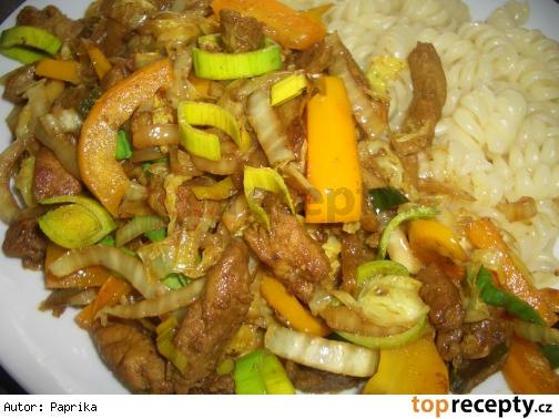 Čínske bravčove rezančeky (od Davida Kratochvíla) / wok
