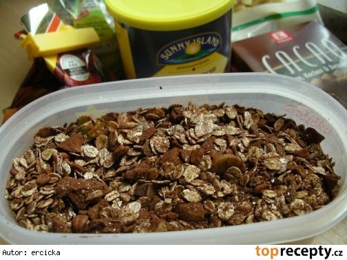 Čokoládové müsli pre alergikov na repný cukor
