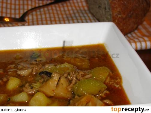 Cuketovo-zázvorová polievka s mletým mäsom