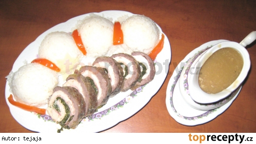 Dvojfarebná mäsová roláda