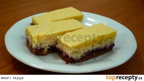 Dvojfarebný kokosový koláč