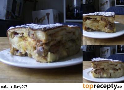 Francúzské toastové pikantné pečené jablká