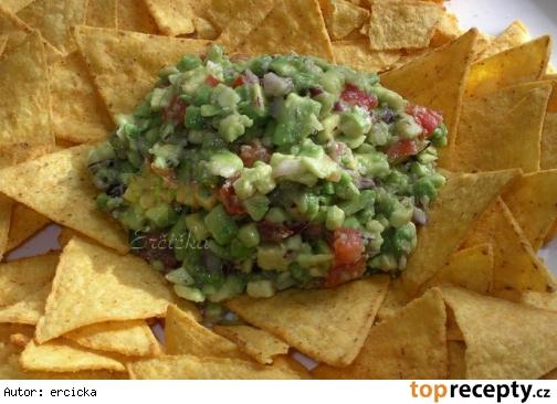 Guacamole s tortilla-chips