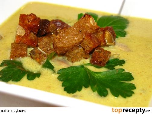 Kari polievka z kuracich kosti