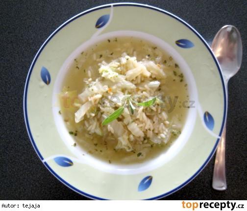Kelová polievka s ryžou