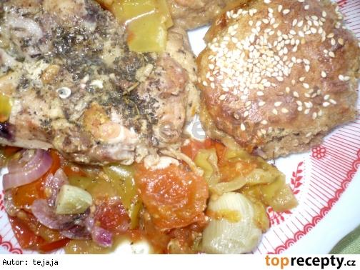 Kuracie mäso s celozrnnými plackami
