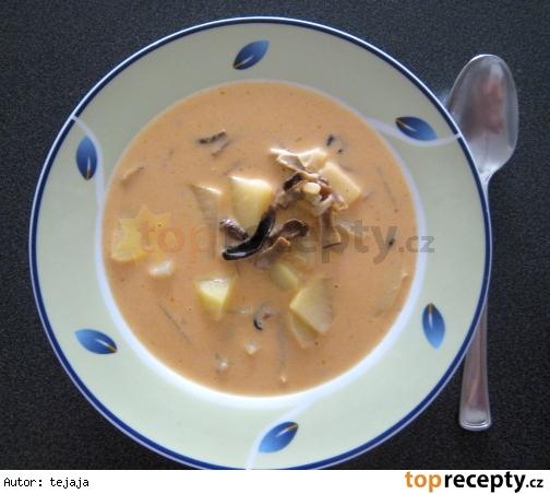 Kyslá polievka so sušenými hubami