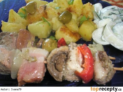 Marinovany kebab s hubami