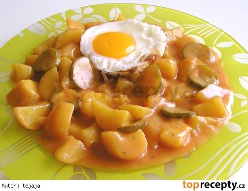 Paprikové zemiaky s uhorkami