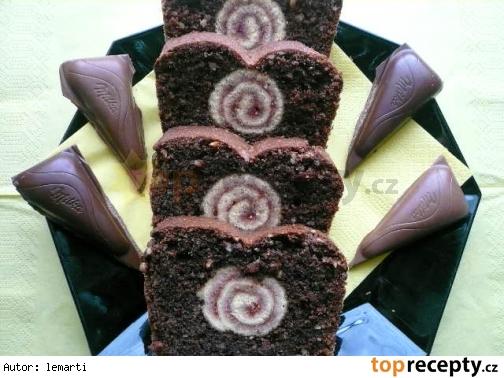 Roládo-čoko-ořechový koláč