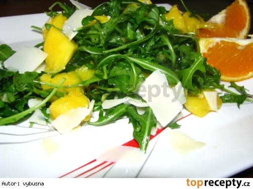 Rukolový šalát s mangom