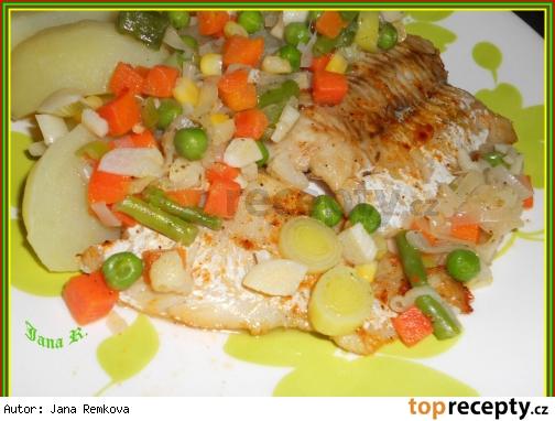 Rybie file na zelenine /Rybí filé na zelenině
