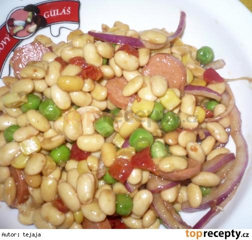 Sójový šalát so zeleninou