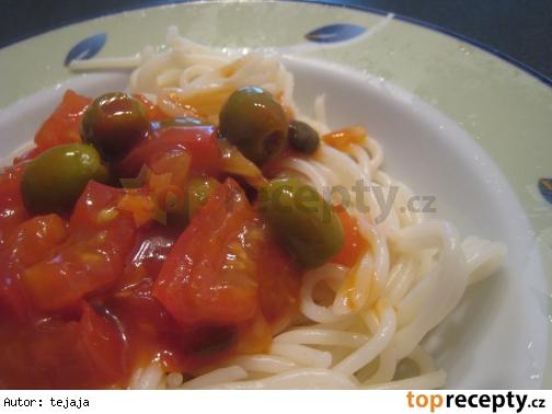 Špagety s olivami