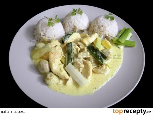 Thajské Kuracie Kari s Nasi ryžou