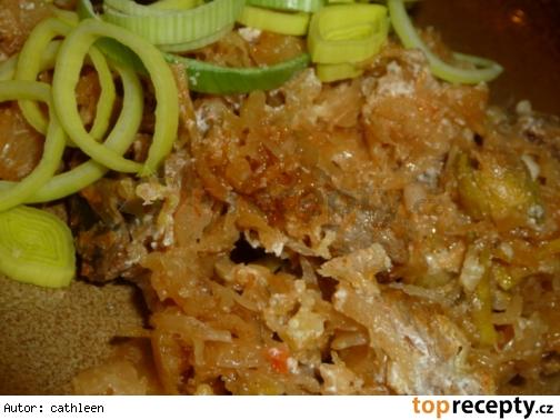 Zapečené bravčové mäso s kyslou kapustou