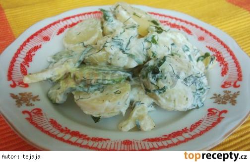 Zemiakový šalát s uhorkou