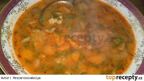 Maďarská fazuľová polievka so zeleninou