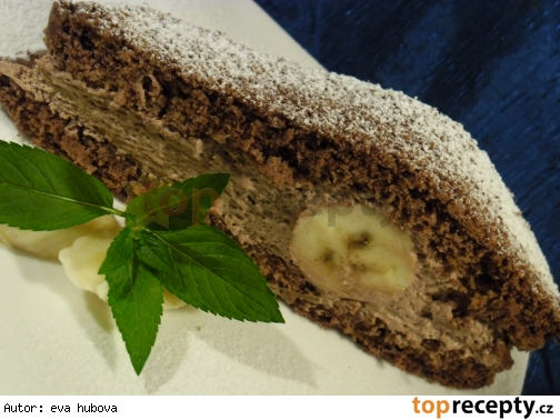 Kakaový múčnik s banánom /Kakaový moučník s banánem