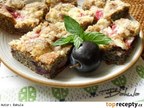 Makový koláč so slivkami /Makový koláč se švestkami