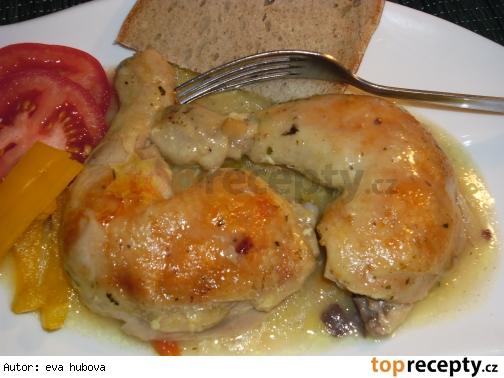 Maso pecene v polievke