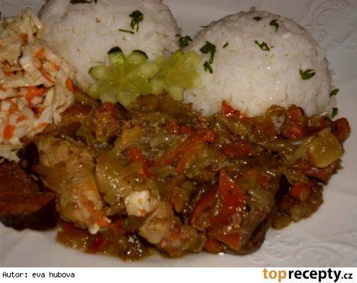 Maso s čínskou zeleninou