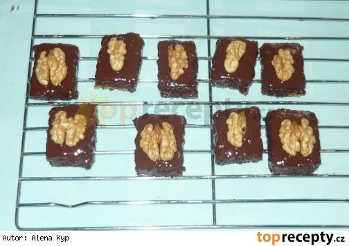 Piskotove orechove kocky/Ořechové kostky piškotové