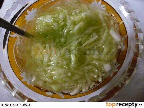 Uhorkový šalát s cibuľou /Okurkový salát s cibulí