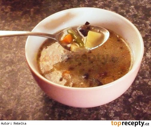 Hubová polievka so zeleninou/Houbová polévka se zeleninou