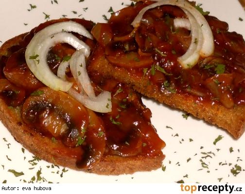 Huby s kečupom na hrianke /Houby s kečupem na topince